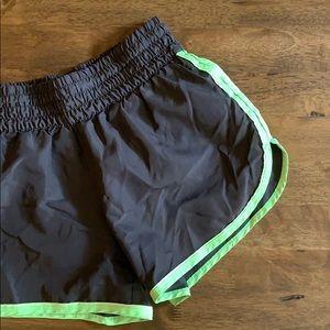 Pants - Gray & Green Athletic Shorts